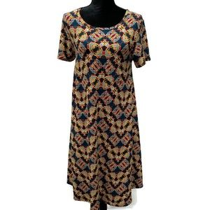 LuLaRoe Small Abstract Design Carly Dress High-Low